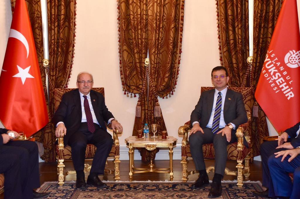 Başkan Albayrak'tan İstanbul Belediye Başkanı Ekrem İmamoğlu'na Ziyaret