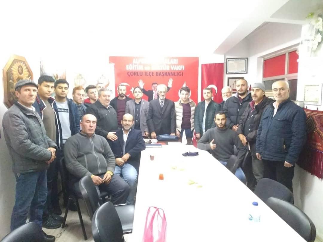 Saadet Partisi Alperen Ocakları Çorlu Şubesini ziyaret etti