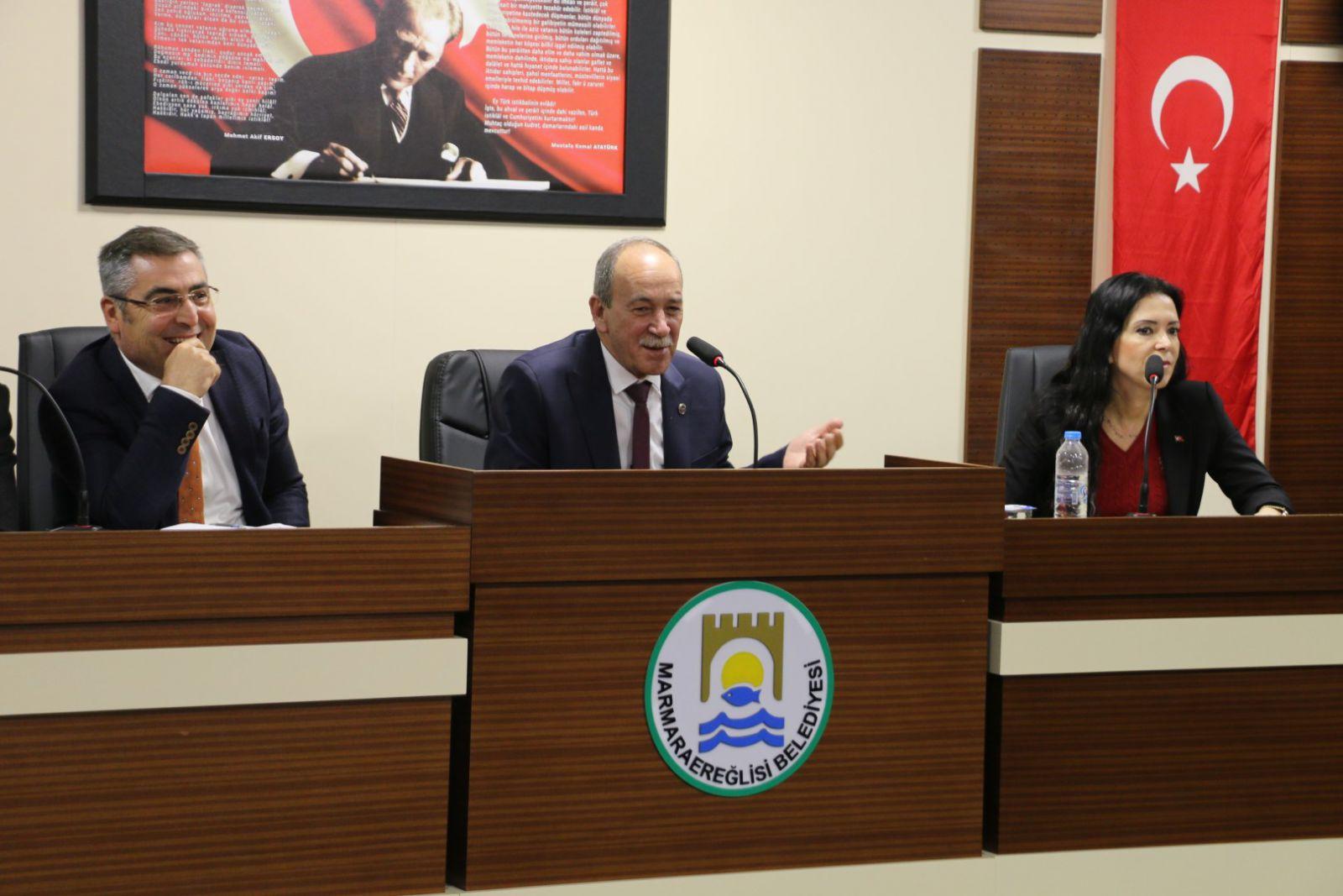 Başkan Ata, İnşaat Sektörü Temsilcileriyle Bir Araya Geldi