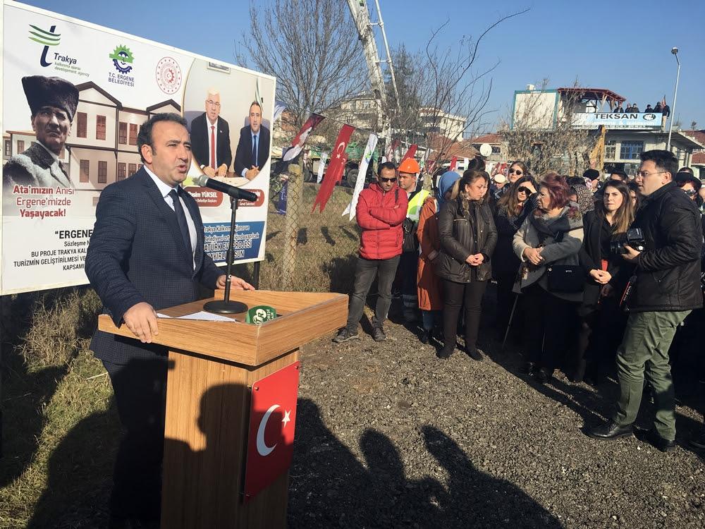 Kalkınma Ajans Destekli Ergene Atatürk Evi'nin Temeli Atıldı