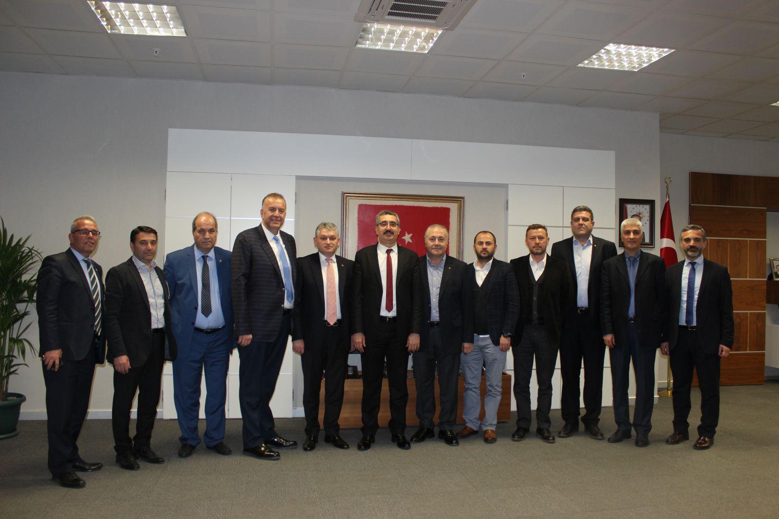 Tekirdağ TSO Yönetiminden NKÜ Rektörü Şahin'e Ziyaret