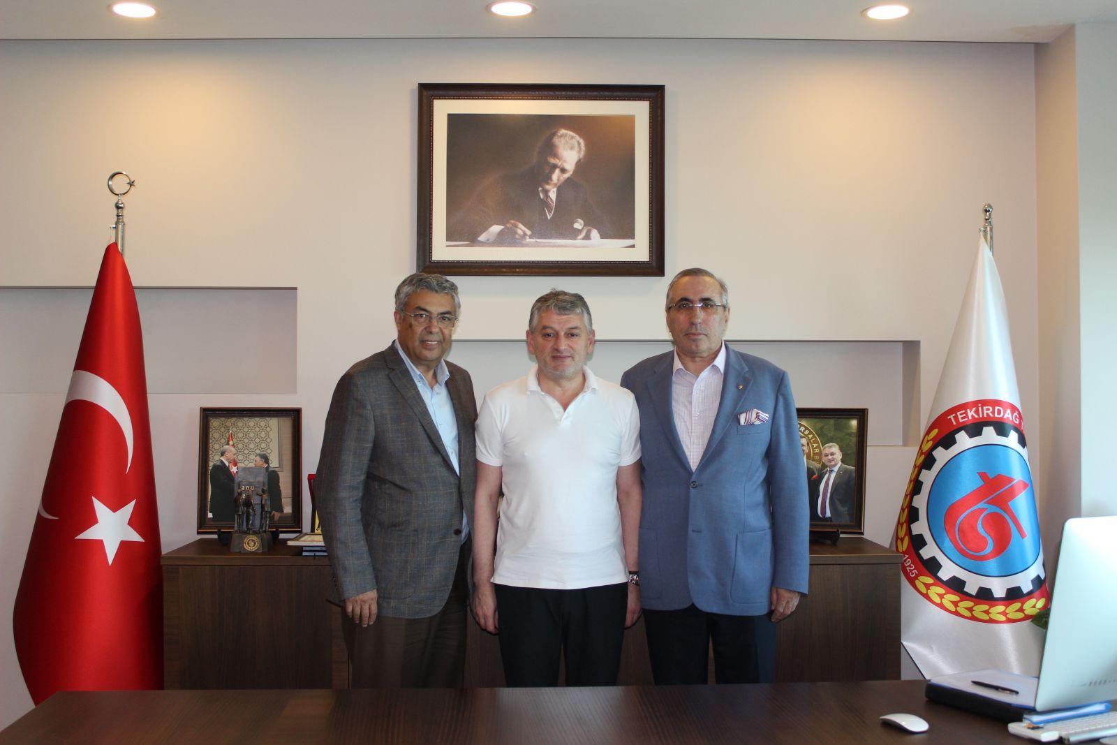 Polatlı TB Başkanı Yahya Toplu Tekirdağ TSO'yu Ziyaret Etti