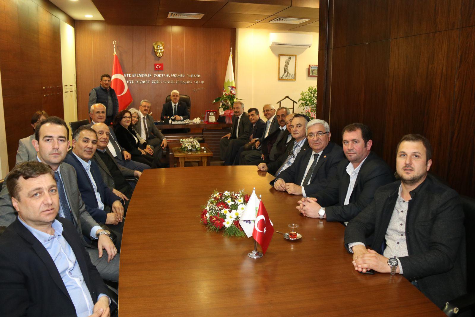 CHP İl Başkanı ve İl Yöneticileri Başkan Yüksel'e 'Hayırlı Olsun' Ziyaretinde Bulundu