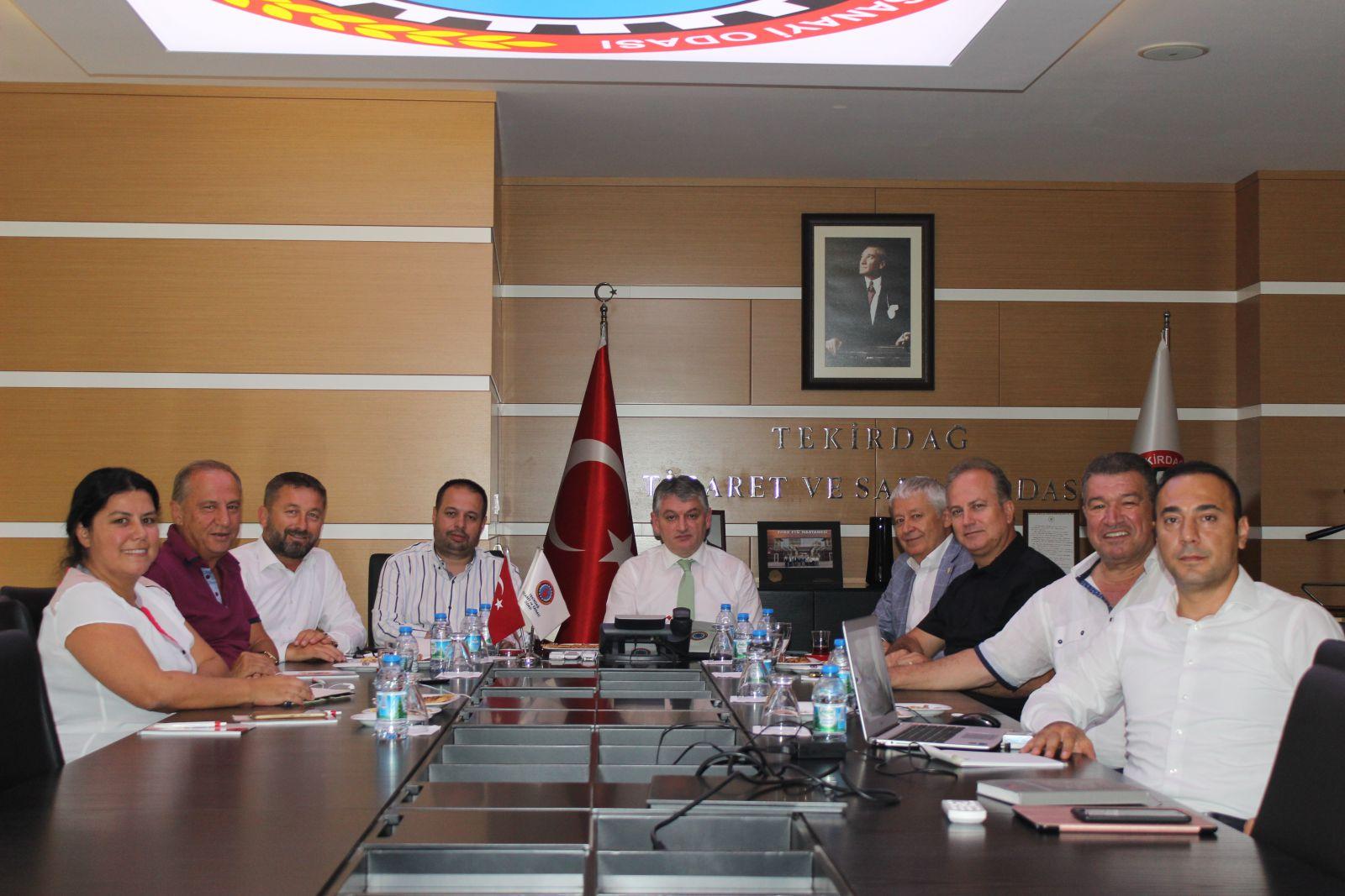 Trakya ABİGEM A.Ş.'nin 2019 yılı İlk yönetim Kurulu Toplantısı Tekirdağ TSO'da Yapıldı