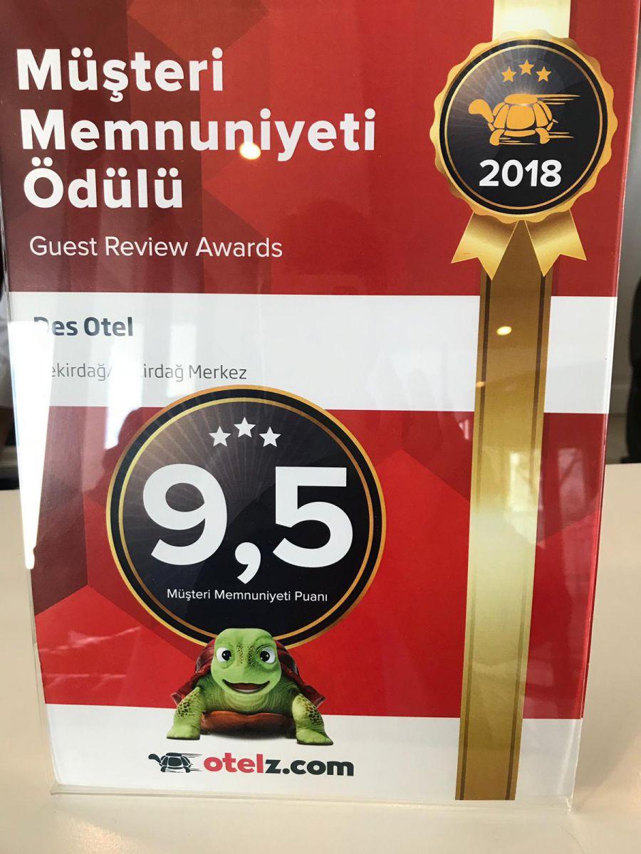 DES OTEL'in 4 Yıldız kalitesi ISO Belgeleri ile tescillendi