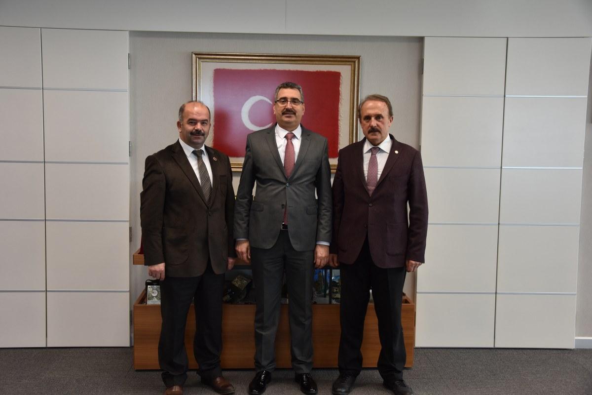 Rektör Prof. Dr. Mümin ŞAHİN' e Nezaket Ziyareti