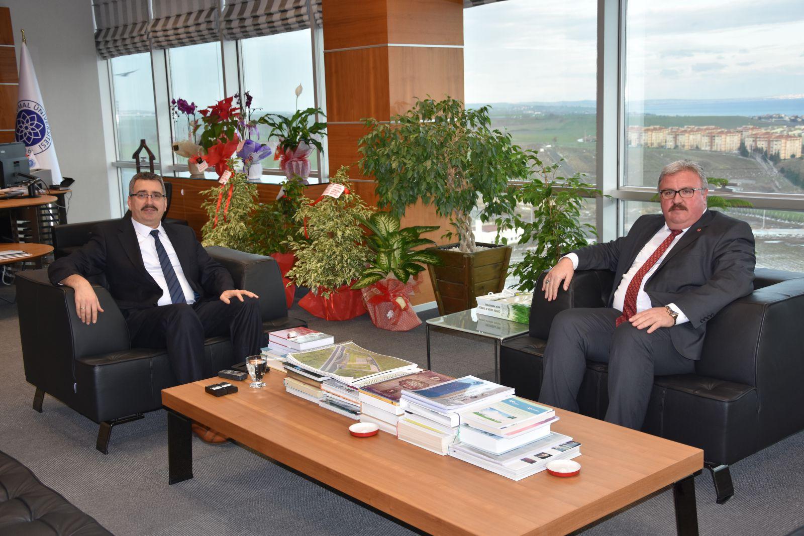 Türkiye Süt Üreticileri Merkez Birliği Başkanından Namık Kemal Üniversitesi Rektörüne Nezaket Ziyareti
