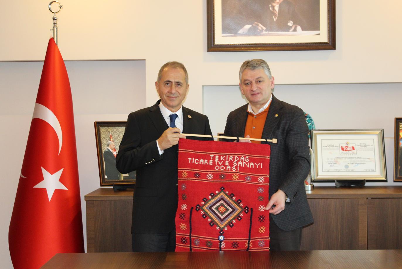Rumeli Üniversitesi Rektörü Tekirdağ TSO Başkanı Günay'ı Ziyaret Etti