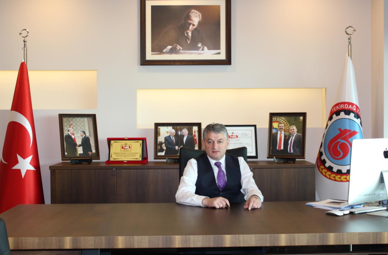 """Tekirdağ TSO Başkanı Günay, """"Oda ve Borsaların aidatları Ekim ayına ertelendi"""""""